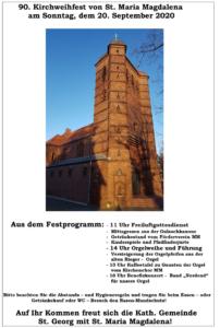 Plakat 90. Kirchweihfest Sankt Maria Magdalena